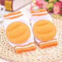 Vadderade knäskydd för bebis (orange)