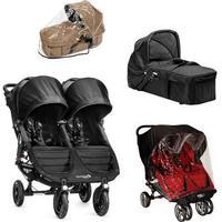 Baby Jogger City Mini GT Double - Sort + Kompakt Pram, Regnslag til Pram og Regnslag, +10 på lager