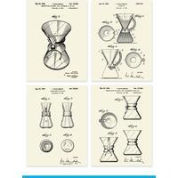 Chemex Patentplakater 4 stk
