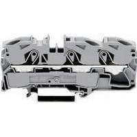 WAGO Gennemgangsklemme 16mm² fjederterminal grå 3-leder midter-/sidepåskrift