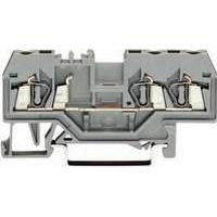 WAGO Gennemgangsklemme 2,5mm² fjederterminal grå 3-leder midterpåskrift til TS 102