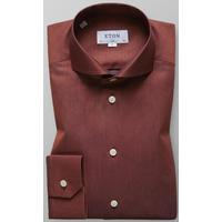 Eton Micro Weave Shirt Red