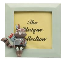 M&Co Homeware teal coloured frame with racoon design photo frame  - Teal