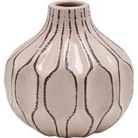 M&Co Home pink textured pink ceramic vase  - Pink