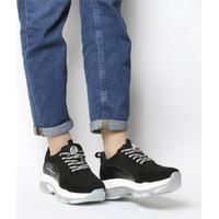 Fornarina Super Sneaker BLACK,Schwarz,Rot,Grün,Weiß