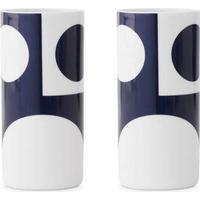 Menu Verner Panton Caffe Latte Kopper - 2 stk. - 30 cl - Porcelæn - Hvid/blå