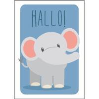 Studio Circus Elefant Hallo Plakat 21x30cm