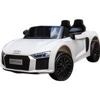 Audi R8 White Electric Car 12V - Elektrisk bil för barn 000442