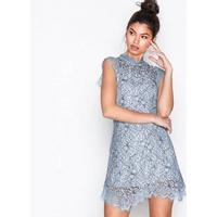 Topshop Lace Mini Flare Dress Fodralklänningar Blue