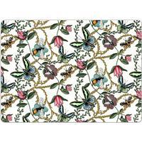 Nadja Wedin Design-Bugs & Butterflies Dækkeserviet 4-pak 30x40, Hvid