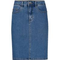 Vero Moda HW Denim Pencil Skirt Blue/Medium Blue Denim (10193076)