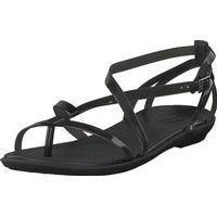 Crocs Isabella Gladiator Sandal W Black/black, Sko, Sandaler & Tøfler, Klipklap-sandaler, Grå, Dame, 36