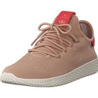 adidas Originals Pw Tennis Hu W Ash Pearl S18/Linen, Sko, Sneakers & Sportsko, Sneakers, Brun, Dame, 40