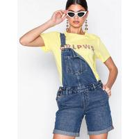New Look Relaxed Fit Denim Short Dungarees Shorts Blue