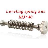 Bed leveling spring for heatbed