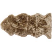 New Zealandsk lammeskind taupe - brun
