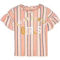 NAME IT Kids Stribet T-shirt Kvinder Orange