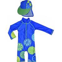 Swimpy UV-Dräkt & Hatt, Blue Lemon 98104
