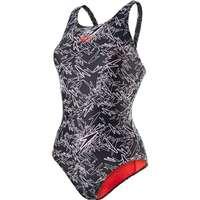 Speedo Boom Allover Muscleback Swimsuit Black White c18eacb020ab8