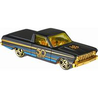 Hot Wheels - 50th Anniversary Black and Gold Vehicles - 65' Ford Ranchero (FRN39)