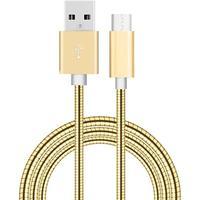 Metallkabel till USB-C för Samsung, Sony, Huawei, HTC 1 m Guld