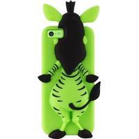 iPhone 5C Puro 3D Zebra Silikone Cover - Grøn