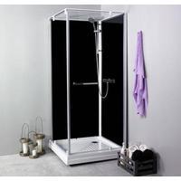 Noro Ocean 79C duschkabin 70x90 cm (vändbar) - Svarta bakväggar