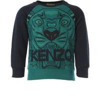 Kenzo Kids Sweatshirts & Hoodies for Girls On Sale, Green, Cotton, 2017, 2Y 3Y