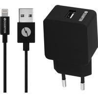 Champion Lightning 220V USB oplader - 2.4A - MFI - 1.5 m - Sort