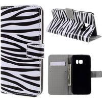 Samsung Galaxy S7 Smart Design Flip Cover - Zebra