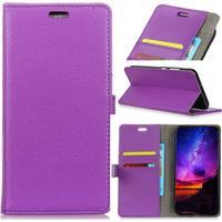 HTC U12 Plus - Läder plånbok / fodral - Lila