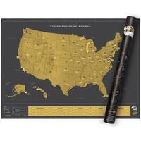 Luckies Skrabekort Landkort Scratch Map USA Deluxe
