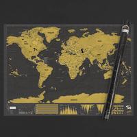 Luckies Skrabekort Verdenskort Scratch Map Deluxe XL