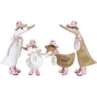 Dcuk - And med lyserøde gummistøvler og lyserød hat