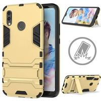 Huawei P20 Lite Armor Hybrid Cover med Stand - Guld