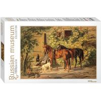 Step Puzzle Russian Museum Adam Albrecht Horses at the Porch 1000 Pieces