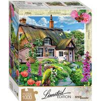 Step Puzzle Pink Cottage 1000 Pieces