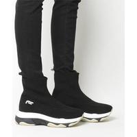 Fornarina Super Knit Sneaker BLACK,Schwarz,Naturfarben