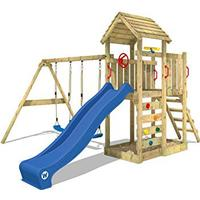 Wickey Climbing Frame with Wooden Roof Multiflyer
