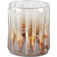 VILLA Collection Vase Glas Klar Brun Perlemor D 10,5 cm H 13,0 cm
