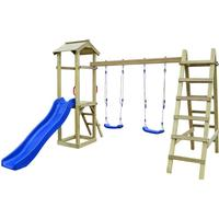 vidaXL Playhouse Set with Slide Ladders Swings 286x237x218cm