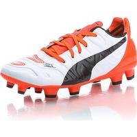 Puma evoPOWER 1.2 FG - Vit/Orange - unisex - Skor - Fotbollsskor - Grässkor