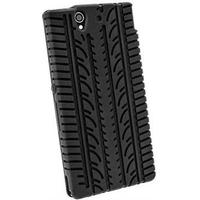Sony Xperia Z iGadgitz Tyre Tread Design Silikon Cover - Sort