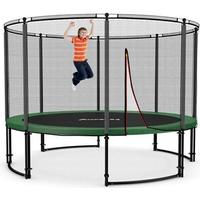 Ampel 24 Deluxe Trampoline + Protective Edge & Outer Safety Net with Fibreglass Ring 366cm