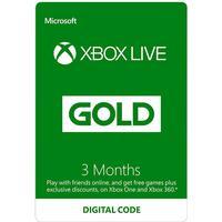 Microsoft Xbox Live Gold Membership - 3 months
