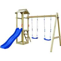 vidaXL Playhouse Set with Slide Ladder Swings 242x237x218cm