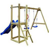 vidaXL Playhouse Set with Slide Ladder Swings 242x237x175cm
