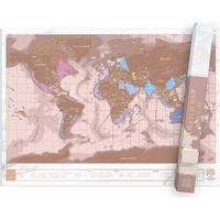 Luckies Skrabekort Verdenskort Scratch Map Rose Gold