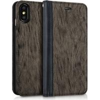 MUSUBO Color Backing iPhone X leather case - Grey