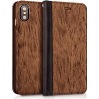 MUSUBO Color Backing iPhone X leather case - Brown